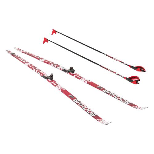 Фото - Беговые лыжи STC NN75 Step XT Tour с креплениями, с палками red 180 см беговые лыжи stc step kid combi черный белый желтый 110 см
