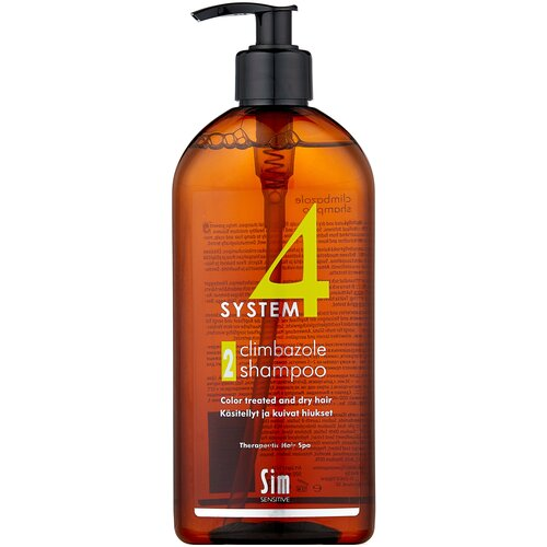 Фото - Sim Sensitive терапевтический шампунь SYSTEM 4 Climbazole Shampoo 2 для сухих, окрашенных и поврежденных волос, 500 мл sim sensitive system 4 mild climbazole shampoo 3 терапевтический шампунь 3 для чувствительной кожи головы 100 мл