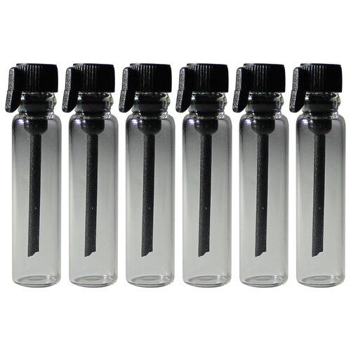 Пробники (фиолки) Aromaprovokator для духов 1 ml крышка черная набор 100 штук