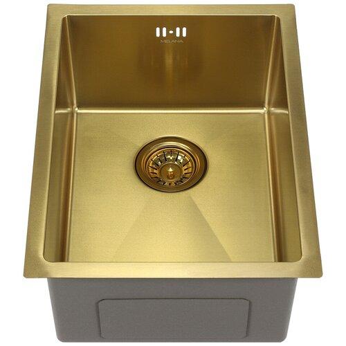 Врезная кухонная мойка 51 см MELANA MLN-5138 золото сатин кухонная мойка melana 218 t 10
