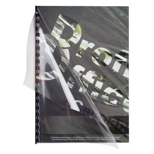 Фото - Обложка ProfiOffice A4 180 мкм глянец прозрачный 100 шт. обложка officespace pvc пластиковые а4 180 мкм красный прозрачный 100 шт