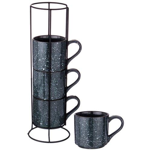Фото - Набор кружек Lefard Коллекция Лимаж, на металлической подставке, 4 штуки, 297 мл (155-289) jewel набор кружек тренза jewel 335 мл 6 шт на металлической подставке
