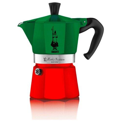 Гейзерная кофеварка Bialetti Moka Express (3 чашки), tricolore