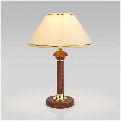 Классическая настольная лампа Eurosvet 60019/1 орех