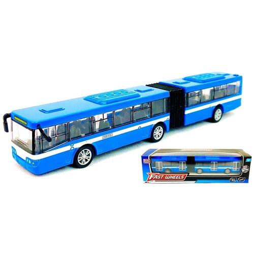 Купить Металлический автобус-гармошка Fast Wheels 6576, Play Smart, 1:64, машинка инерционная, 17, 5х3х2, 5 см, Машинки и техника