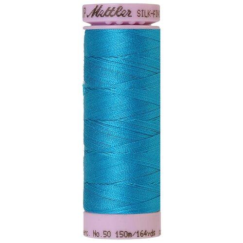 Нить для машинного квилтинга SILK-FINISH COTTON 50, 150 м 100% хлопок 1394 Caribbean Blue ( 9105-1394 )