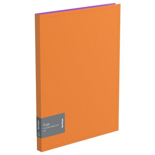 Фото - Berlingo Папка с 20 вкладышами Fuze А4, 14 мм, 600 мкм, пластик оранжевый berlingo папка с 20 вкладышами neon a4 14 мм 700 мкм пластик зеленый