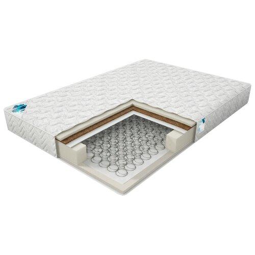 Матрас Dimax Практик Лайт Базис Bonnel, 110x200 см, пружинный, белый матрас dimax практик лайт базис 500 110x200 см пружинный белый