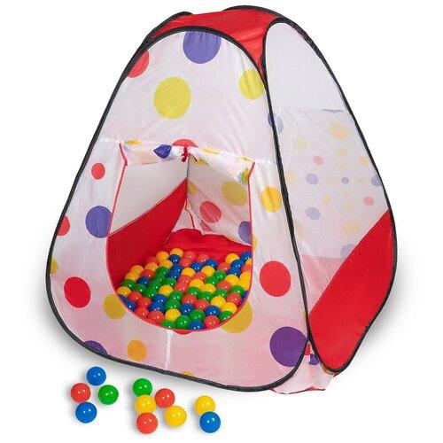 Палатка Sevillababy треугольная + 100 шаров Чудесный CBH-34, белый/красный/синий