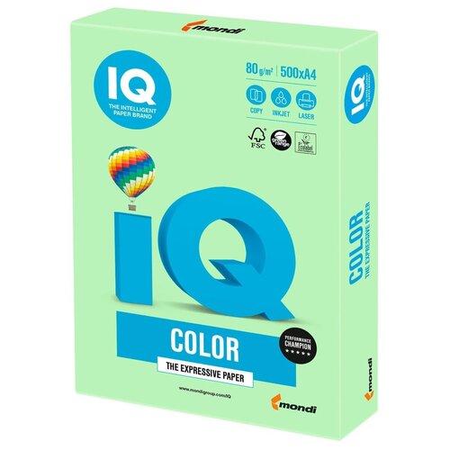 Фото - Бумага IQ Color A4 80 г/м² 500 лист., зеленый MG28 бумага iq color a4 80 г м² 250 лист 5 цв х 50 л тренд rb03