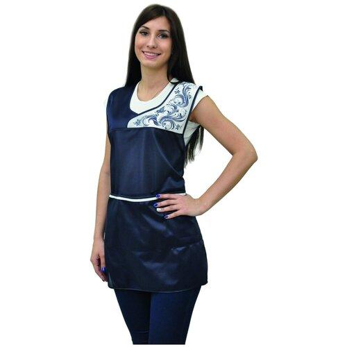 Купить Фартук рабочий нейлон Принцесса т-синий, 58-64, IVUNIFORMA, Одежда для уроков труда