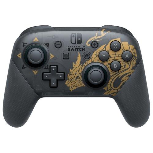 Геймпад Nintendo Switch Pro Controller Monster Hunter Rise, черный/золотой геймпад nintendo switch pro controller