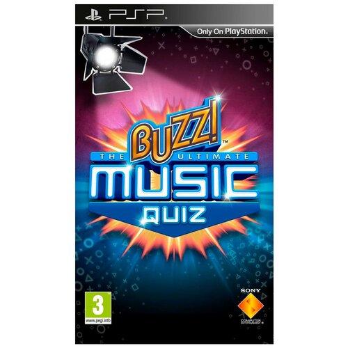 Игра для PlayStation Portable Buzz! The Ultimate Music Quiz, английский язык недорого