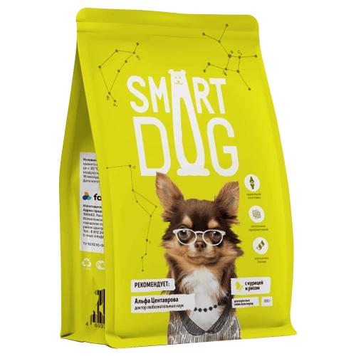 Фото - Сухой корм для собак Smart Dog курица, с рисом 2 шт. х 3 кг сухой корм для собак chicopee курица с рисом 2 кг