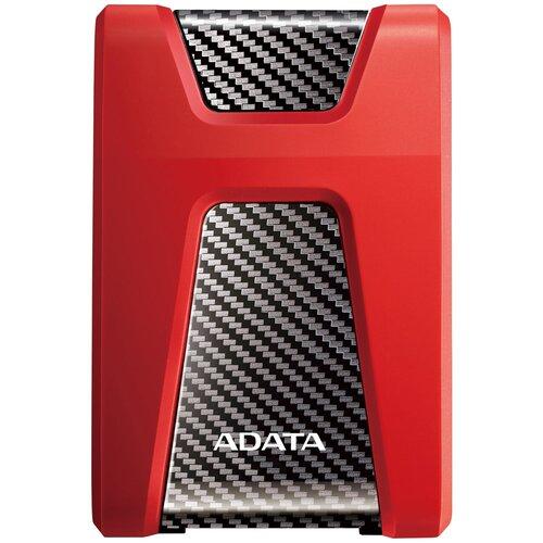 Фото - Внешний HDD ADATA DashDrive Durable HD650 2 TB, красный внешний hdd adata hd710 pro 2 tb красный