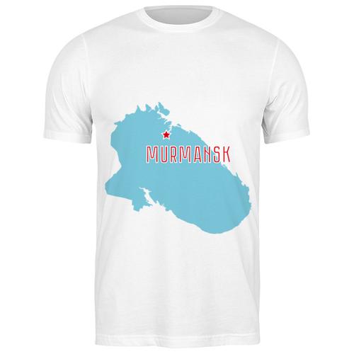 Футболка классическая Мурманская область. Мурманск #2193638 (цвет: БЕЛЫЙ, пол: МУЖ, качество: ЭКОНОМ, размер: S)