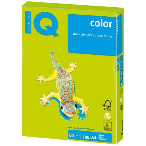 Фото - Бумага IQ Color A4 80 г/м² 100 лист., зеленый неон NEOGN бумага iq color a4 80 г м² 250 лист 5 цв х 50 л тренд rb03