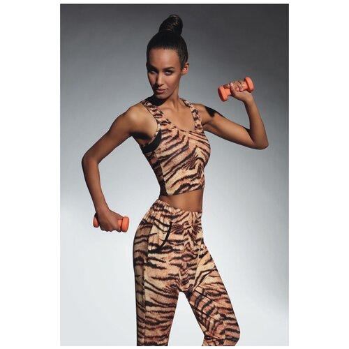 Bas Bleu Топ-майка для фитнеса Cool, тигровый, L