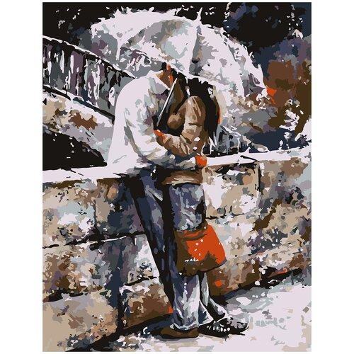 Картина по номерам Двое под зонтом, 40 х 50 см