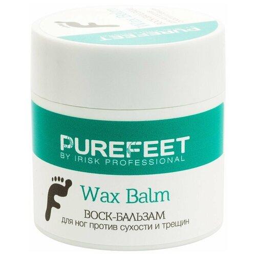 Irisk Professional Воск-бальзам для ног PureFeet Wax Balm против сухости и трещин 50 мл баночка