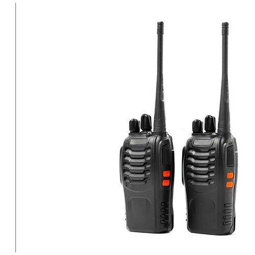 Рация BAOFENG BF-888S (2 шт.) - дальность передачи до 8 км, мощность 5 Вт, 16 радиоканалов - рация с аккумулятором в подарочной упаковке