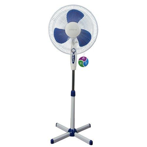 Напольный вентилятор Polaris PSF 0940, белый/синий
