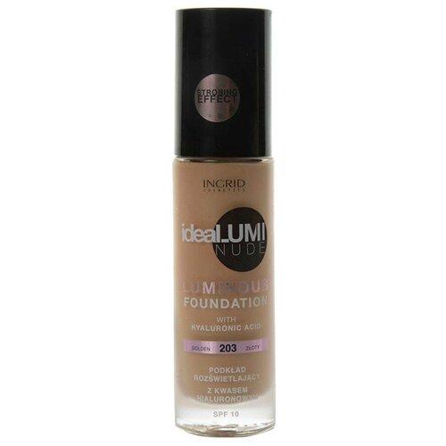 Ingrid Cosmetics Тональный крем Ideal umi nude, 30 мл/120 г, оттенок: 203 золотой недорого
