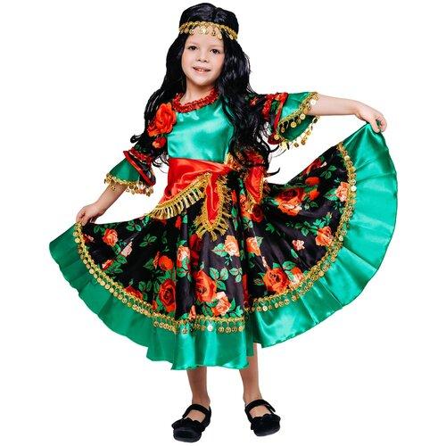 Фото - Костюм пуговка Цыганка Рада (1015 к-18), зеленый/красный, размер 128 костюм пуговка кузнечик 2080 к 20 зеленый размер 128