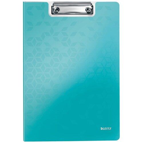 Leitz Папка-планшет с верхним прижимом WOW A4, полифом бирюзовый