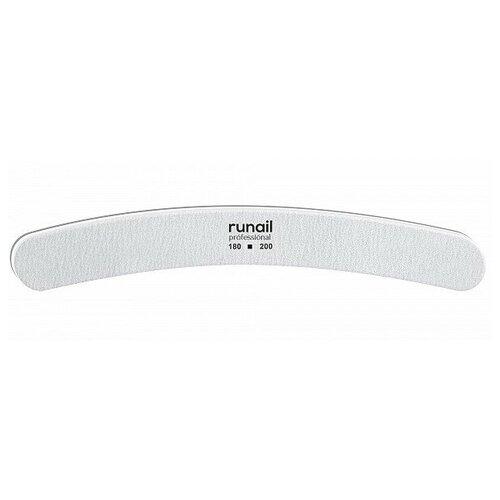 Купить RUNAIL RuNail, пилка для ногтей (белая, бумеранг, 180/200), Runail Professional
