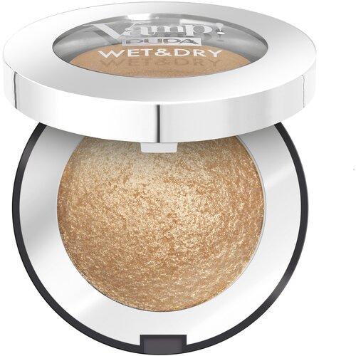 Pupa Тени для век Vamp! Wet&Dry 101 Precious Gold недорого