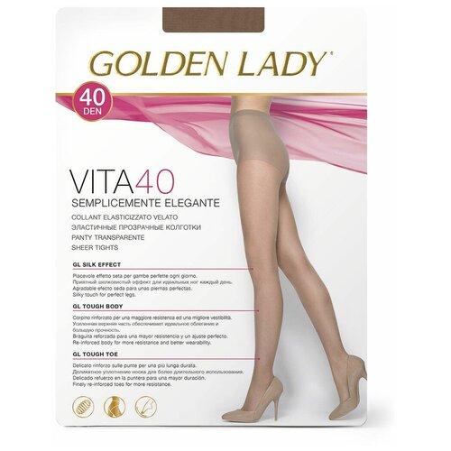 Колготки Golden Lady Vita, 40 den, размер 5-XL, cognac (бежевый) колготки golden lady vely 20 den размер 5 xl cognac бежевый