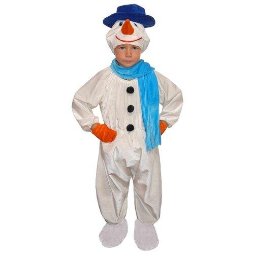 Костюм Маскарад у Алисы Снеговик-2, белый, размер 32(128) костюм маскарад у алисы восточный принц коричневый размер 32 128