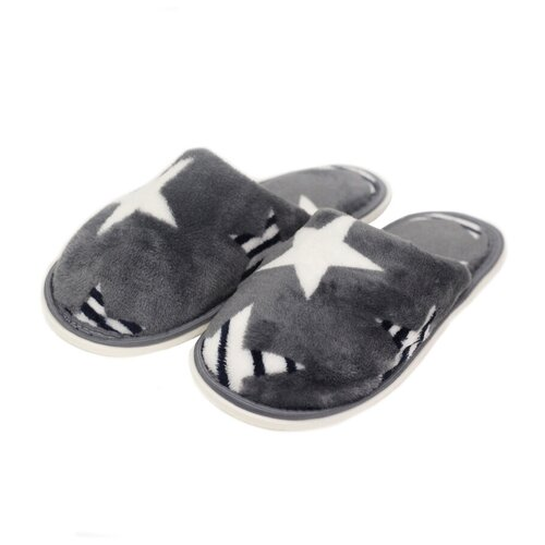 Тапочки ivshoes серый/звезды 36-37