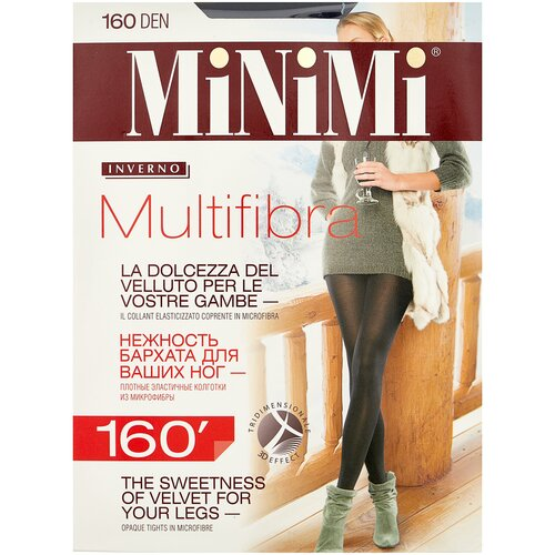 Фото - Колготки MiNiMi Multifibra, 160 den, размер 4-L, fumo (серый) колготки minimi vittoria 20 den размер 4 l fumo серый