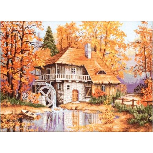 Фото - Luca-S Набор для вышивания Осенний пейзаж 52 x 37 см (B481) набор для вышивания улитка luca s 9 5 x 5 см b005