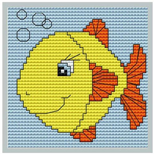 Фото - Набор для вышивания Luca-S Моя первая вышивка. Рыбка, 8x8 см, арт. B080 bu4022 набор для вышивания хижина в лесу 43 5 40см luca s