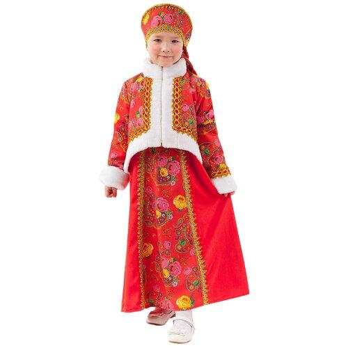 Костюм пуговка Масленица (1058 к-20), красный, размер 110, Карнавальные костюмы  - купить со скидкой