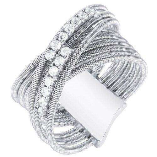 Фото - JV Серебряное кольцо с кубическим цирконием DM3469R-KO-001-WG, размер 18 jv серебряное кольцо с кубическим цирконием dm0026r ko 001 wg размер 18