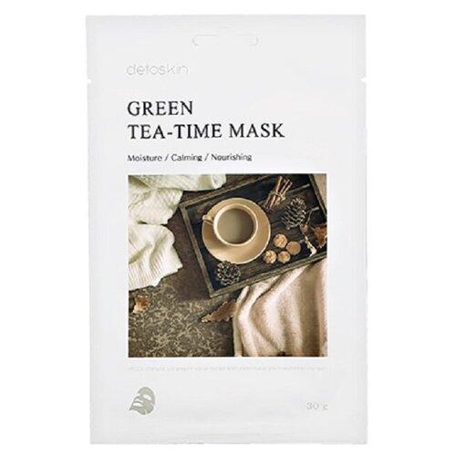 Фото - Detoskin Green Tea-Time Mask Тканевая маска с экстрактом зеленого чая, 5шт. тканевая маска для лица с экстрактом зеленого чая green tea essence mask 21г