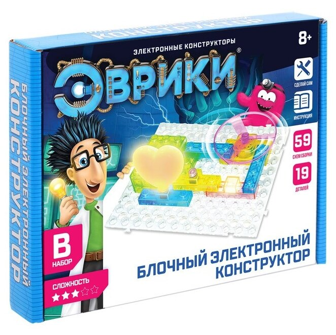 Конструктор ЭВРИКИ 3584375 Блочный электронный конструктор B — купить по выгодной цене на Яндекс.Маркете