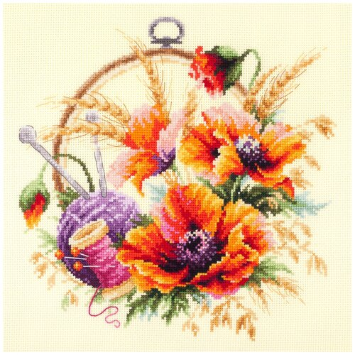 Чудесная Игла Набор для вышивания Маки для искусницы 25 х 25 см (100-123) чудесная игла набор для вышивания пионы для умелицы 25 х 25 см 100 124