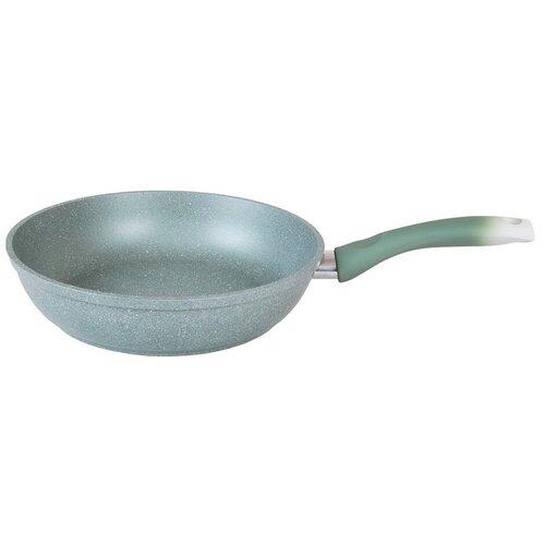 Сковорода Kukmara Мраморная 227а, 22 см, фисташковый мрамор сковорода d 24 см kukmara кофейный мрамор смки240а