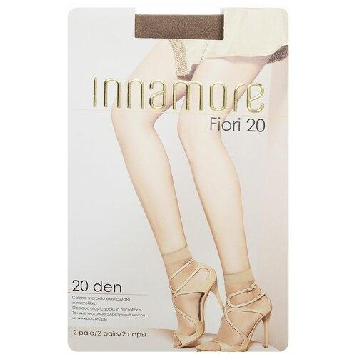 Капроновые носки Innamore Fiori 20, 2 пары, размер UNI, daino