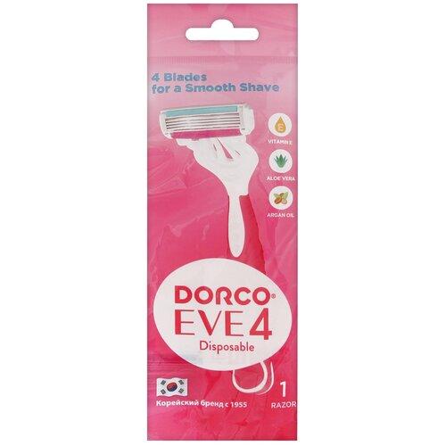 Dorco Eve 4 / Shai 4 Vanilla Бритвенный станок, 1 шт. бритвенный станок dorco pace 4 одноразовый 4 шт