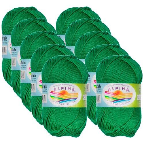 Купить Пряжа Alpina Anabel, 100 % хлопок, 50 г, 120 м, 10 шт., №015 яр.зелёный