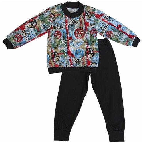 Купить Пижама Папитто размер 116, черный, Домашняя одежда