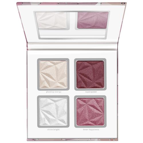 Купить Essence Палетка хайлайтеров и румян Crystal Power розовый/белый