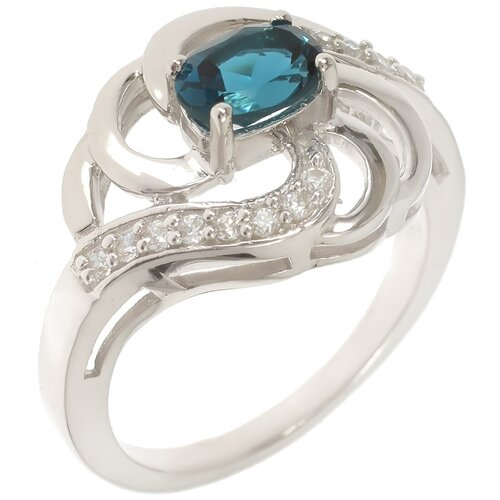 Фото - Balex Кольцо 1454930057 из серебра 925 пробы с топазом Лондон и фианитом, размер 17 element47 кольцо из серебра 925 пробы с топазами лондон r32560h 7 ko lt wg размер 17 25