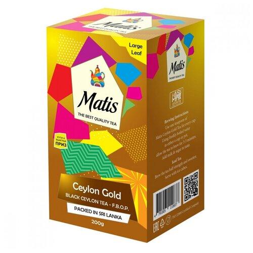 Чай Matis Золото Цейлона, черный листовой, 200 гр